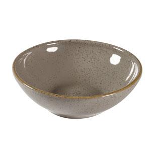 Churchill Stonecast Peppercorn Grey Shallow Bowl 4.5inch / 11.6cm