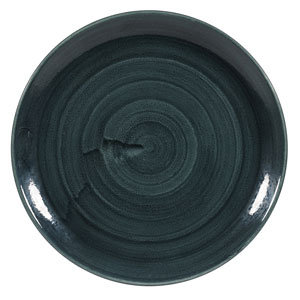 Churchill Stonecast Patina Rustic Teal Coupe Plate 11.25inch / 28.8cm