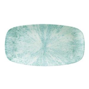 Churchill Studio Prints Stone Aquamarine Chefs' Oblong Plate 11.75inch / 29.8cm