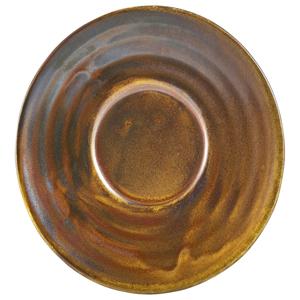 Terra Porcelain Saucer Rustic Copper 4.5inch / 11.5cm