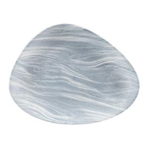 Churchill Studio Prints Fluid Pearl Grey Triangle Plate 10inch / 26.5cm