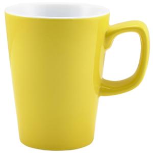 Royal Genware Latte Mug Yellow 12oz / 340ml