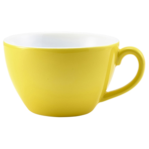 Royal Genware Bowl Shaped Cup Yellow 12oz / 340ml