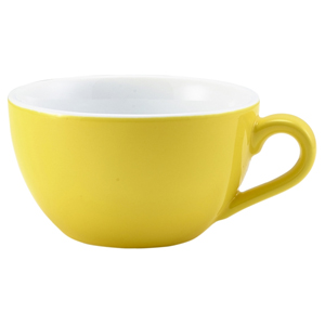 Royal Genware Bowl Shaped Cup Yellow 6oz / 175ml