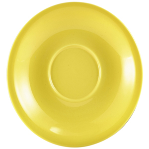 Royal Genware Saucer Yellow 6.25inch / 16cm