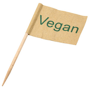Vegan Food Flag Pick 9cm
