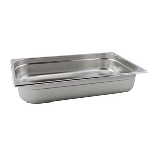 Stainless Steel Gastronorm Pan 1/1 Full Size 100mm Deep