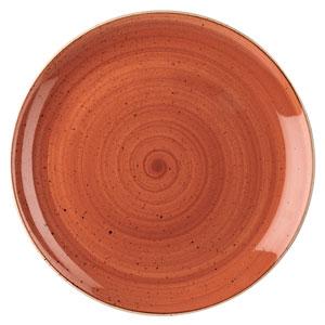 Churchill Stonecast Spiced Orange Coupe Evolve Plate 12inch / 32.4cm