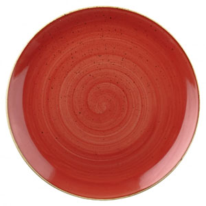 Churchill Stonecast Berry Red Coupe Evolve Plate 12inch / 32.4cm