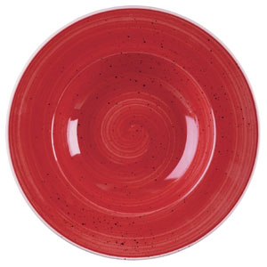 Churchill Stonecast Berry Red Wide Rim Bowl 9.5inch / 24cm