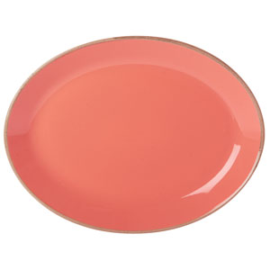 Seasons Coral Oval Plate 12inch / 30cm