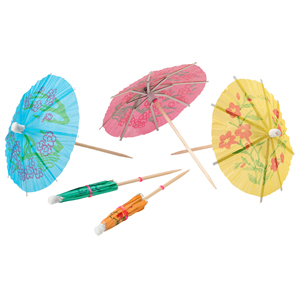 Paper Cocktail Umbrellas 10cm