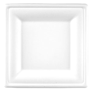 Square Bagasse Plate 6.25inch / 15.9cm