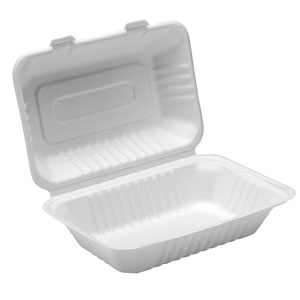 Bagasse Lunch Box 9inch / 23cm