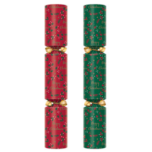 11inch Holly Wreath Crackers