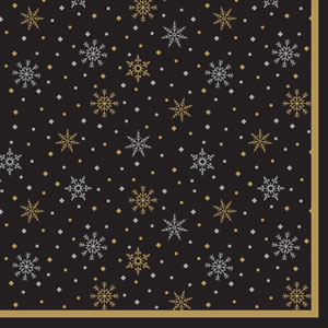 Swantex Midnight Sparkle Napkin 33cm 2 Ply