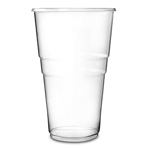 Oxo-Biodegradable Flexy Glasses Pint to Line CE 20oz / 568ml