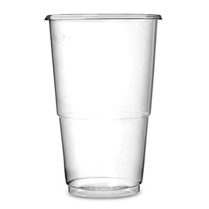 Oxo-Biodegradable Flexy Glasses Half Pint to Line CE 10oz / 285ml