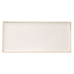 Seasons Oatmeal Rectangular Platter 13.75inch / 35cm
