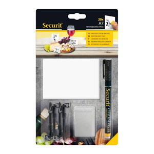 White Chalk Board Tags A7 with Black Chalkmarker