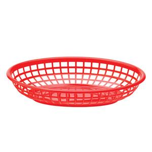 Red Oval Basket 9 x 6inch / 23 x 15.5cm