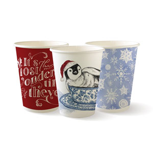Christmas Series Disposable Paper Coffee Cups 12oz / 340ml
