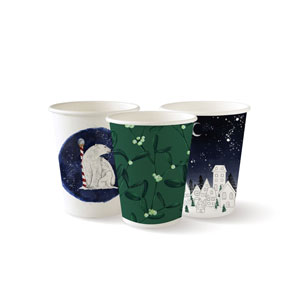 Christmas Series Disposable Paper Coffee Cups 8oz / 230ml