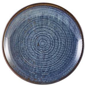 Terra Porcelain Aqua Blue Deep Coupe Plate 9.8inch / 25cm