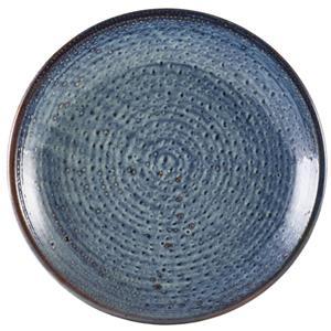 Terra Porcelain Aqua Blue Deep Coupe Plate 11inch / 28cm