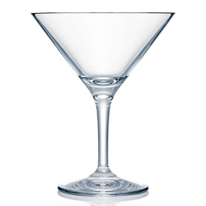 Strahl Design + Contemporary Polycarbonate Martini Glass 8oz / 240ml