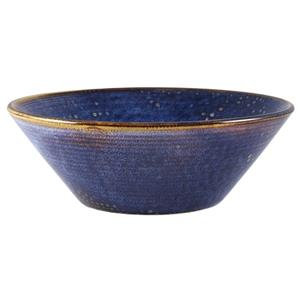 Terra Porcelain Aqua Blue Conical Bowl 7.6inch / 19.5cm
