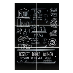 Frameless Chalkboard 6 Piece Set