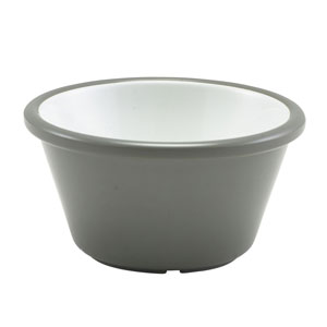 Two Tone Melamine Ramekin Grey & White 2oz / 59ml