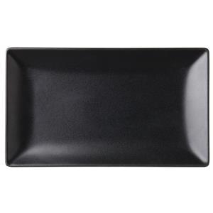 Noir Rectangular Black Plate 10 x 5.75inch / 25 x 14.5cm