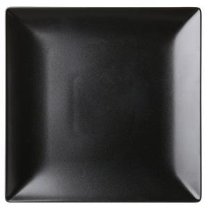 Noir Square Black Plate 10inch / 25.5cm