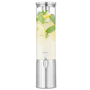 Final Touch Stainless Steel & Glass Drinks Dispenser 2.5ltr