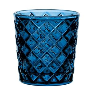 Criss Cross Blue Nightlight Holder