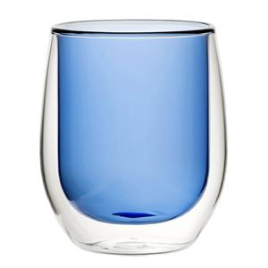 Double Wall Water Glass Blue 9.7oz / 270ml