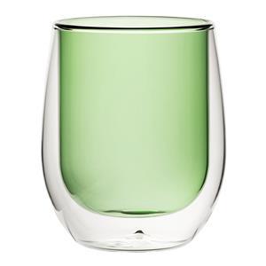 Double Wall Water Glass Green 9.7oz / 270ml