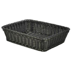 Polywicker Display Basket Black 36.5 x 29 x 9cm