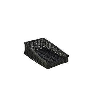 Wicker Display Basket Black 40 x 25 x 12cm