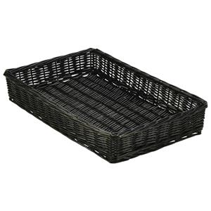 Wicker Display Basket Black 46 x 30 x 8cm