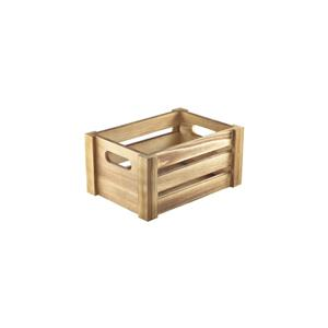 Wooden Crate Rustic Finish 22.8 x 16.5 x 11cm