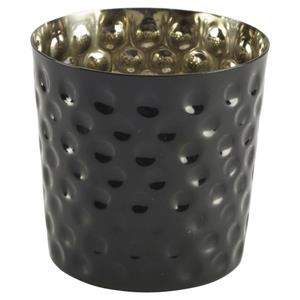 Stainless Steel Black Serving Cup Hammered 8.5 x 8.5cm