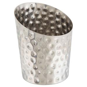 Stainless Steel Hammered Angled Cone 11.6 x 9.5cm