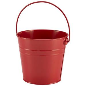 Stainless Steel Red Serving Bucket 16cm