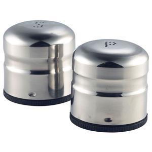 Stainless Steel Jumbo Condiment Salt & Pepper Set 6.5 x 7.5cm