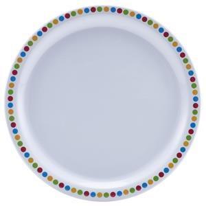 Genware Coloured Circle Melamine Plate 9inch / 24cm