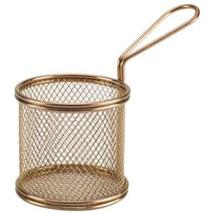 Copper Serving Fry Basket Round 9.3 x 9cm