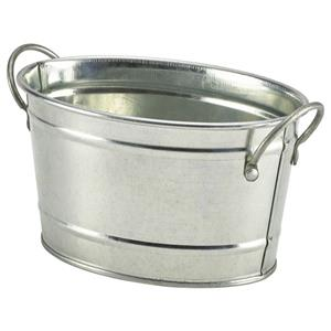 Galvanised Steel Serving Bucket 15.5 x 11 x 8.5cm